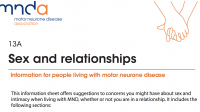 MND Association - Sex and relationships: for people living with MND