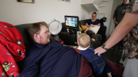 James who is living with MND/ALS spends time with his family