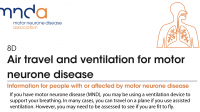 MND Association - Air travel and ventilation