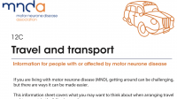 MND Association: Travel and transport