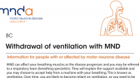 MND Association: Withdrawal of ventilation with MND