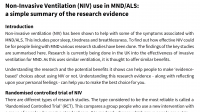 Evidence summary for NIV use in MND/ALS